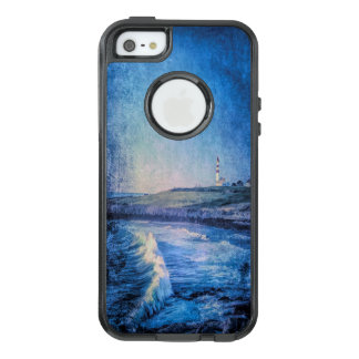 Blue lighthouse and ocean waves OtterBox iPhone 5/5s/SE case