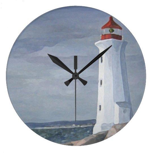 Blue Lighthouse clock