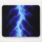 blue lightning bolt mouse pad