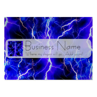 Blue Lightning Pattern Large Business Cards (Pack Of 100)