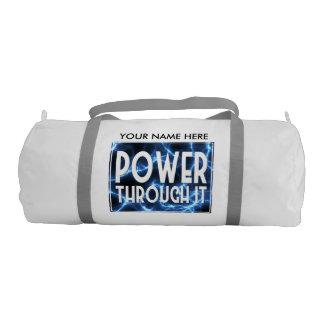Blue Lightning-Power Through It Gym Bag