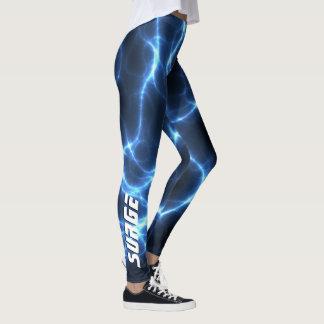 Blue Lightning-SURGE Leggings