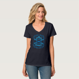 Blue Lightning V-Neck Women's T-Shirt