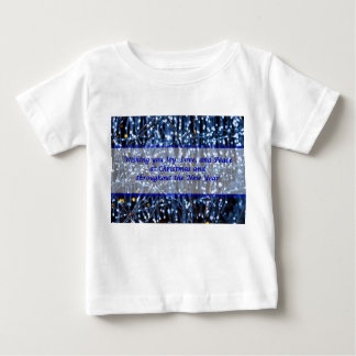 Blue Lights Abstract Text Baby T-Shirt