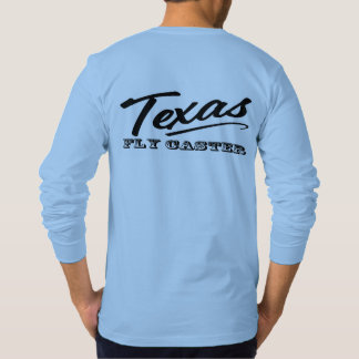 Blue Like The Sky Texas Fly Caster Western Logo T-Shirt