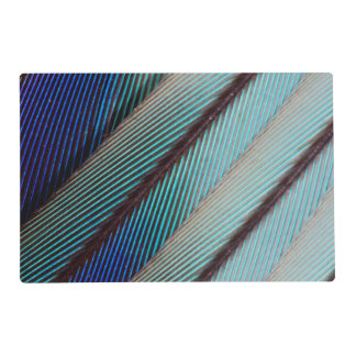 Blue Lilac Breasted Roller feather Laminated Place Mat