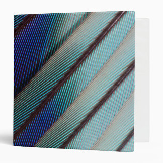 Blue Lilac Breasted Roller feather Vinyl Binders