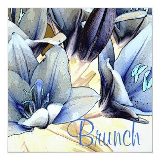 Blue Lilies Brunch Invitation