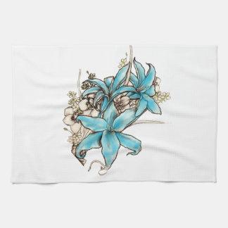 Blue Lilies Towels