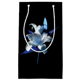 Blue Lily Gift Bag by DelynnAddams