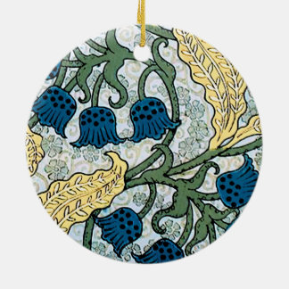 Blue Lily of the Valley pattern Ceramic Ornament