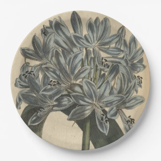 Blue Lily Paper Plate