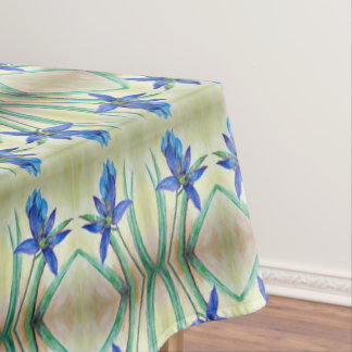 Blue Lily Table Cloth