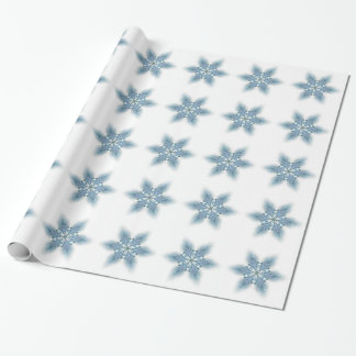 Blue Lily Wrapping Paper