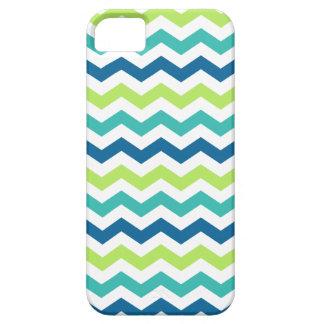 Blue Lime Aqua Chevron Pattern iPhone 5 Case