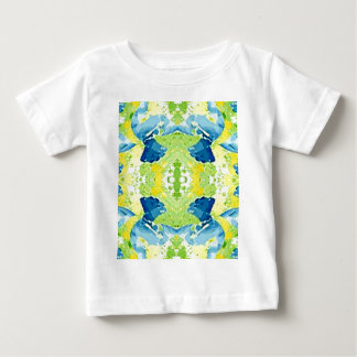 Blue Lime Green Modern Artistic Abstract Baby T-Shirt