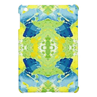 Blue Lime Green Modern Artistic Abstract Cover For The iPad Mini