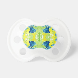 Blue Lime Green Modern Artistic Abstract Pacifier