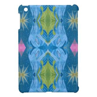 Blue Lime Starburst tribal Pattern iPad Mini Case