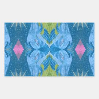 Blue Lime Starburst tribal Pattern Sticker