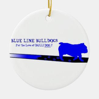 Blue Line Bulldogs Ornament