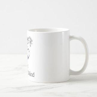 blue line hearts coffee mug