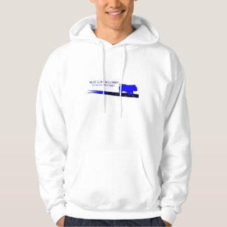 Blue Line Logo Hoodie