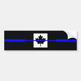 Blue Line mince sur le décor canadien de drapeau Autocollant De Voiture
