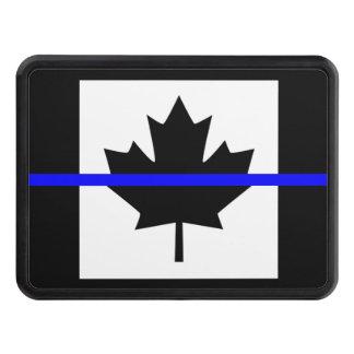 Blue Line mince sur le drapeau canadien Couvertures Remorque D'attelage