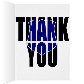 "Blue Line Police ""Thank You"" Card"