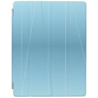 Blue Line Print iPad Cover