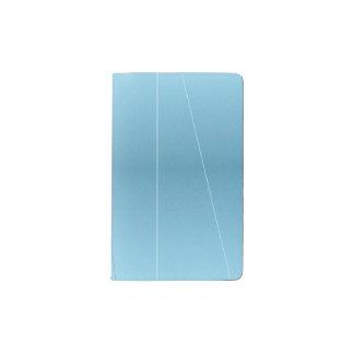 Blue Line Print Pocket Moleskine Notebook