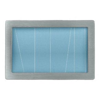 Blue Line Print Rectangular Belt Buckle
