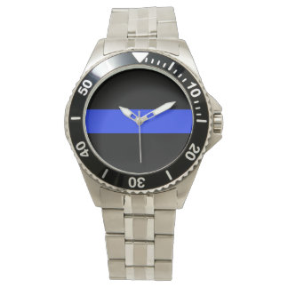 Blue Line Stainless Steel Bracelet Watch
