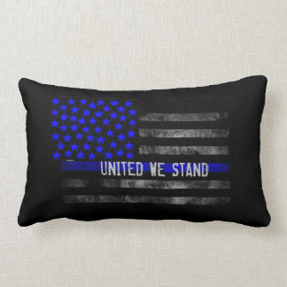"""Blue Line """"United We Stand""""  Pillow 13"""" x 21"""""""