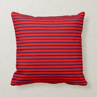 Blue Lines Decor-Soft Red Pillows