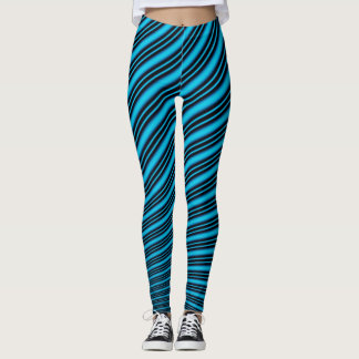 Blue lines leggings