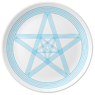 Blue Lines Star Plate