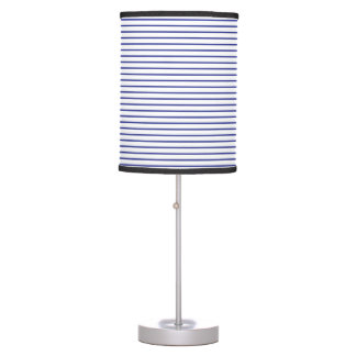 Blue Lines White Desk Lamps