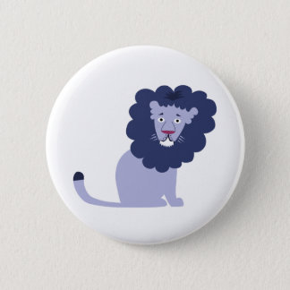 Blue lion blue 2 inch round button