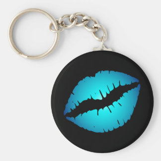 Blue Lips Keychain