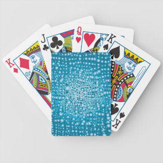 Blue Liquid Background Bicycle Playing Cards