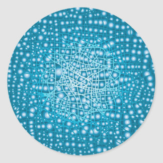 Blue Liquid Background Classic Round Sticker