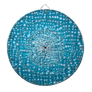 Blue Liquid Background Dartboard