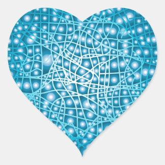 Blue Liquid Background Heart Sticker