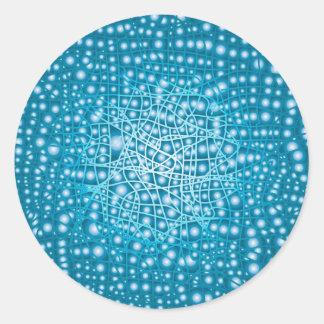 Blue Liquid Background Round Sticker