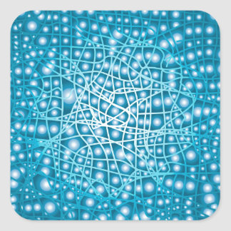 Blue Liquid Background Square Sticker
