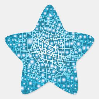 Blue Liquid Background Star Sticker