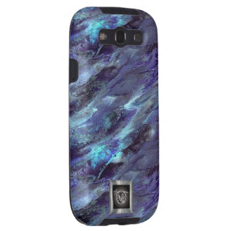 Blue Liquid camo Samsung Galaxy S3 case