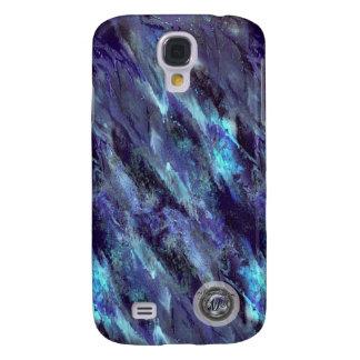 Blue Liquid camo Samsung Galaxy S4 case